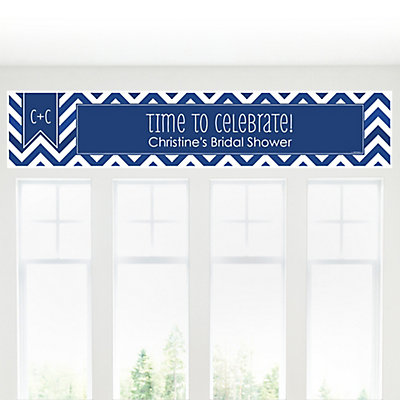 chevron navy personalized bridal