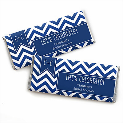 Chevron Navy - Personalized Bridal Shower Candy Bar Wrapper ...