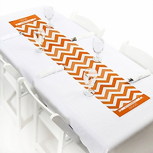 Orange Chevron - Personalized Baby Shower Petite Table Runners