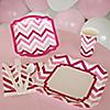 Chevron Pink - 8 Person Birthday Party Kit