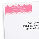Pink Chevron - Personalized Baby Shower Return Address Labels - 30 ct