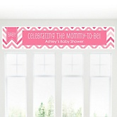 Pink Chevron Chevron - Personalized Baby Shower Banner
