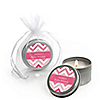 Chevron Pink - Personalized Baby Shower Candle Tin Favors