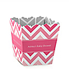 Chevron Pink - Personalized Baby Shower Candy Boxes
