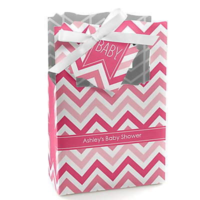 Pink Chevron - Personalized Baby Shower Favor Boxes...