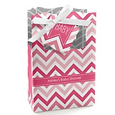 Pink Chevron - Personalized Baby Shower Favor Boxes