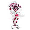 Chevron Pink - Baby Shower Candy Bouquets with Frooties