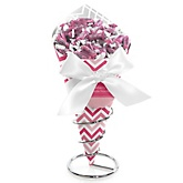 Pink Chevron - Baby Shower Candy Bouquets with Frooties