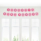 Pink Chevron - Personalized Baby Shower Garland Banner