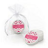 Chevron Pink - Personalized Baby Shower Lip Balm Favors