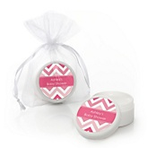 Pink Chevron - Lip Balm Personalized Baby Shower Favors