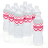 Chevron Pink - Personalized Baby Shower Water Bottle Label Favors