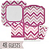 Chevron Pink - Birthday Party 48 Big Dot Bundle