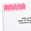 Chevron Pink - Personalized Birthday Party Return Address Labels - 30 ct