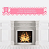 Chevron Pink - Personalized Birthday Party Banners
