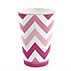 Chevron Pink - Birthday Party Hot/Cold Cups - 8 ct