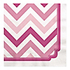 Chevron Pink - Birthday Party Luncheon Napkins - 16 ct