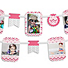 Chevron Pink - Birthday Party Photo Garland Banners