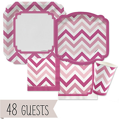 chevron pink bridal shower 48 big