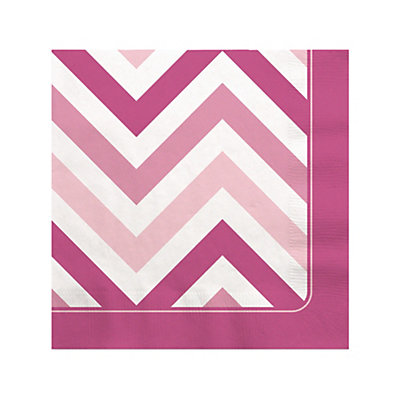chevron pink bridal shower beverage
