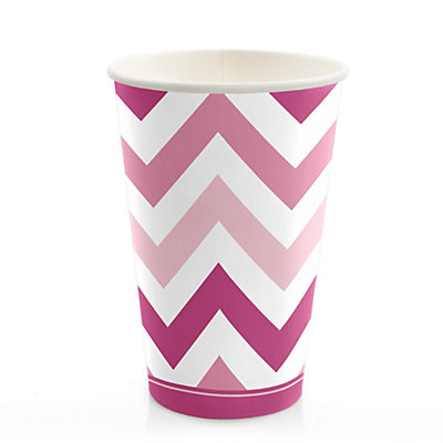 chevron pink bridal shower hot cold