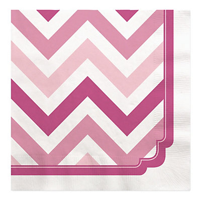 chevron pink bridal shower luncheon