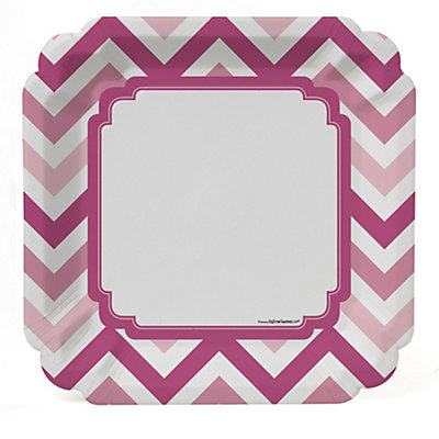 chevron pink bridal shower dinner