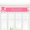 Chevron Pink - Personalized Everyday Party Banners