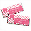 Chevron Pink - Personalized Everyday Party Candy Bar Wrapper Favors
