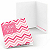 Chevron Pink - Everyday Party Thank You Cards - 8 ct