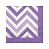 Purple Chevron - Baby Shower Beverage Napkins - 16 Pack