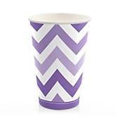 Purple Chevron - Baby Shower Hot/Cold Cups - 8 Pack
