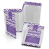 Purple Chevron - Fabulous 5 Personalized Baby Shower Games