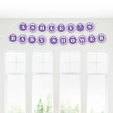 Chevron Purple - Personalized Baby Shower Garland Letter Banners