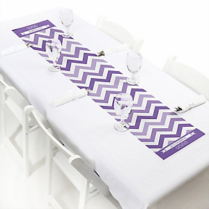 Chevron Purple - Personalized Party Petite Table Runner