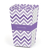 Purple Chevron - Personalized Baby Shower Popcorn Boxes