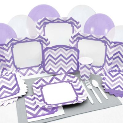 Amazing Chevron Purple   Baby Shower Tableware