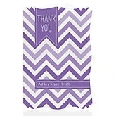 Purple Chevron - Personalized Baby Shower Thank You Cards