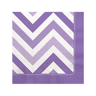 Chevron Purple - Bridal Shower Beverage Napkins - 16 ct...