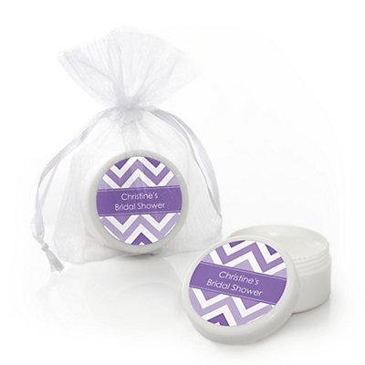 Chevron Purple - Personalized Bridal Shower Lip Balm Favors...
