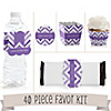 Chevron Purple - 40 Piece Personalized Everyday Party Kit