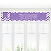 Chevron Purple - Personalized Everyday Party Banners