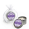 Chevron Purple - Personalized Everyday Party Candle Tin Favors