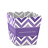 Chevron Purple - Personalized Everyday Party Candy Boxes