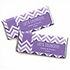 Chevron Purple - Personalized Everyday Party Candy Bar Wrapper Favors