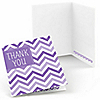 Chevron Purple - Everyday Party Thank You Cards - 8 ct