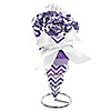 Chevron Purple - Everyday Party Candy Bouquets with Frooties