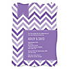Chevron Purple - Personalized Everyday Party Invitations