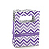 Chevron Purple - Personalized Everyday Party Mini Favor Boxes