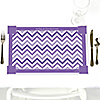 Chevron Purple - Personalized Everyday Party Placemats